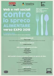 """Milano, Palazzo Marino-5 Febbraio 2015- """"Web e reti sociali contro lo spreco alimentare."""""""