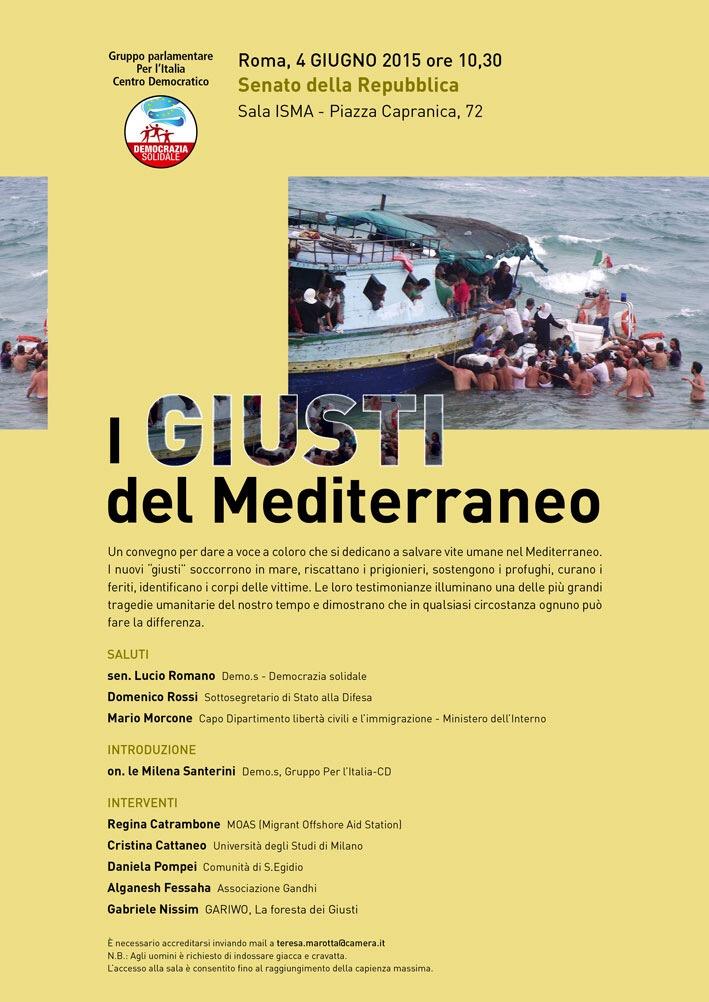 Roma-4 Giugno 2015 – i Giusti del Mediterraneo