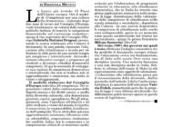Italia Oggi: 'Monito UE: più educazione civica. Fedeli: é tardi per questa legislatura.'