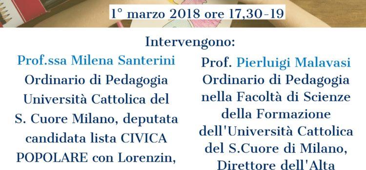 """Brescia-1 Marzo-convegno """"Educatori, insegnanti, pedagogisti. La nuova legge per le professioni educative""""."""